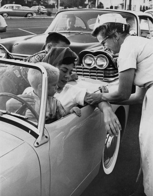 polio drive-thru jonas salk