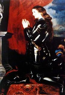 Jeanne d'Arc beim beten (1620)