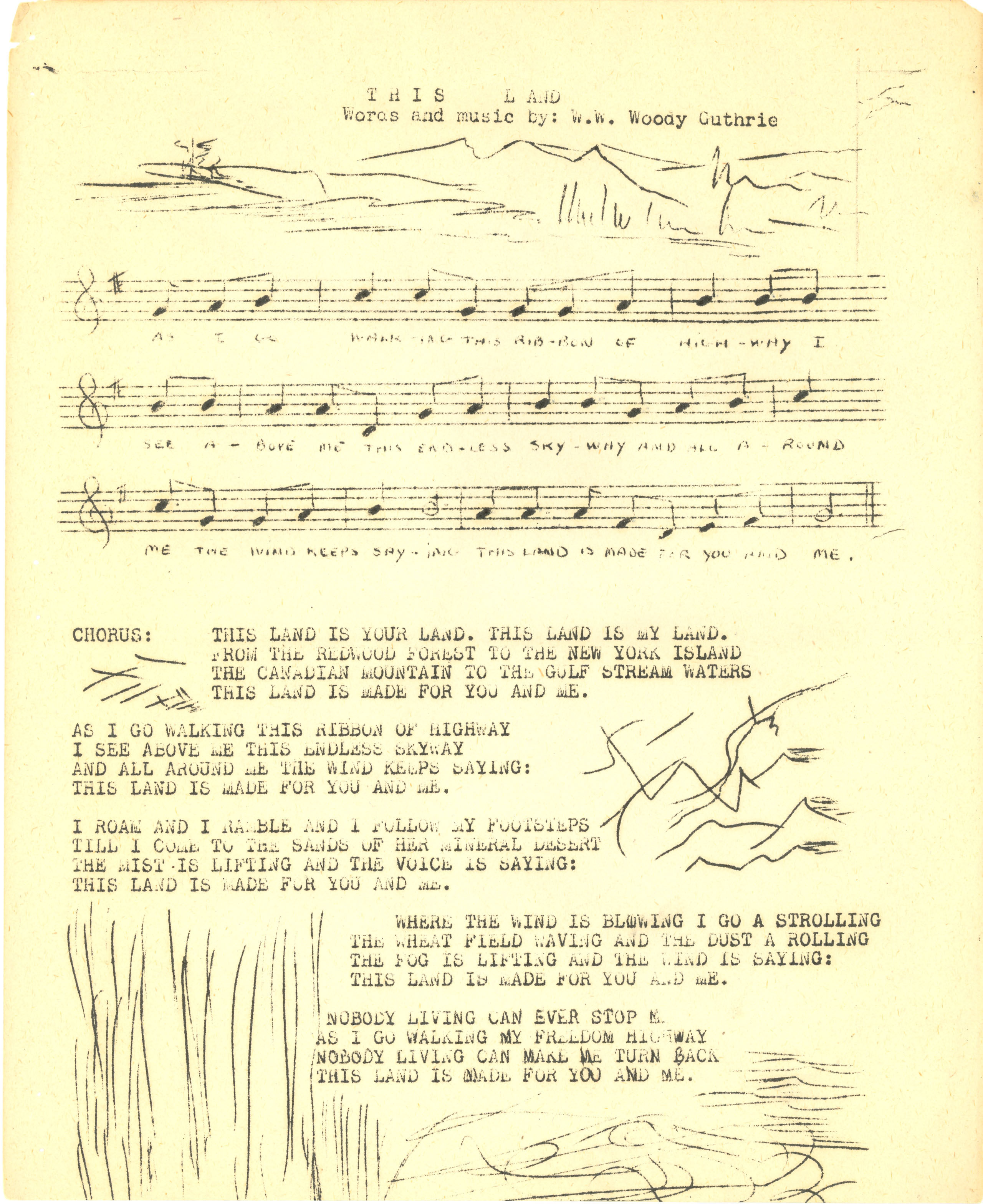 Sheet Music Writes In Letters