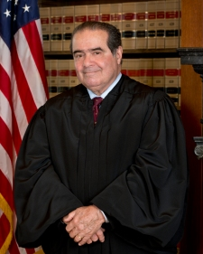 Full Credit: From The Collection of the Supreme Court of the United States Official portrait of Associate Justice Antonin G. Scalia, Supreme Court. Associate Justice Scalia was appointed by President Reagan and took the Judicial Oath on September 26, 1986.