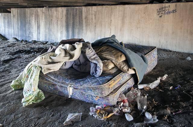 homeless bed